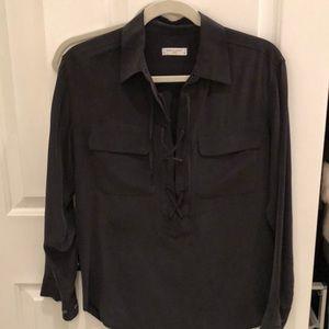 Black Equipment blouse